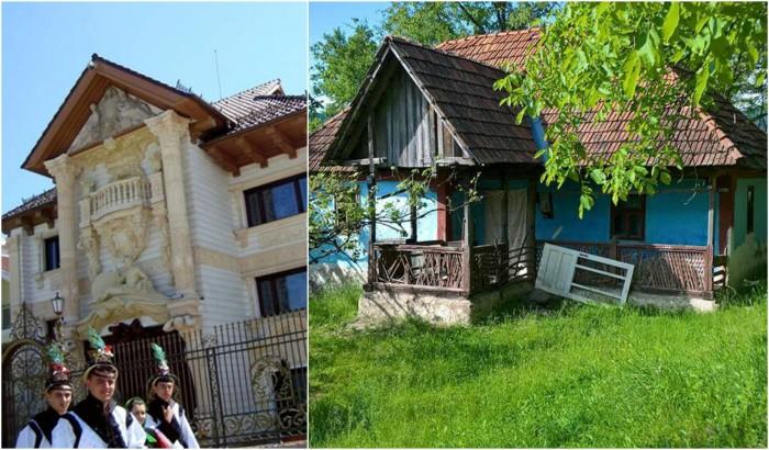 cum contrasteaza casele in tara oasului