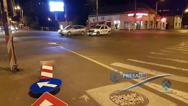 Sens giratoriu la intersecția Burdea