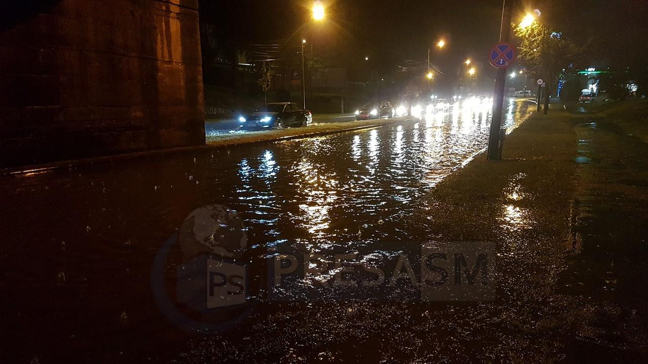 Inundații în municipiul Satu Mare