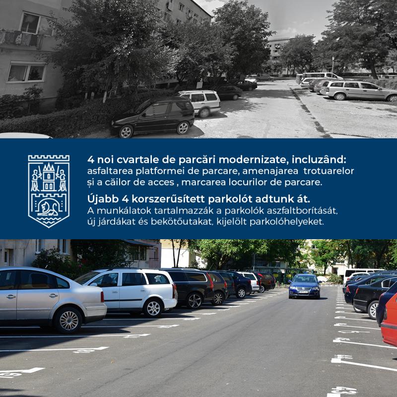 Parcări finalizate în municipiul Satu Mare
