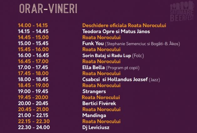 Festivalul Berii în Satu Mare. Programul oficial