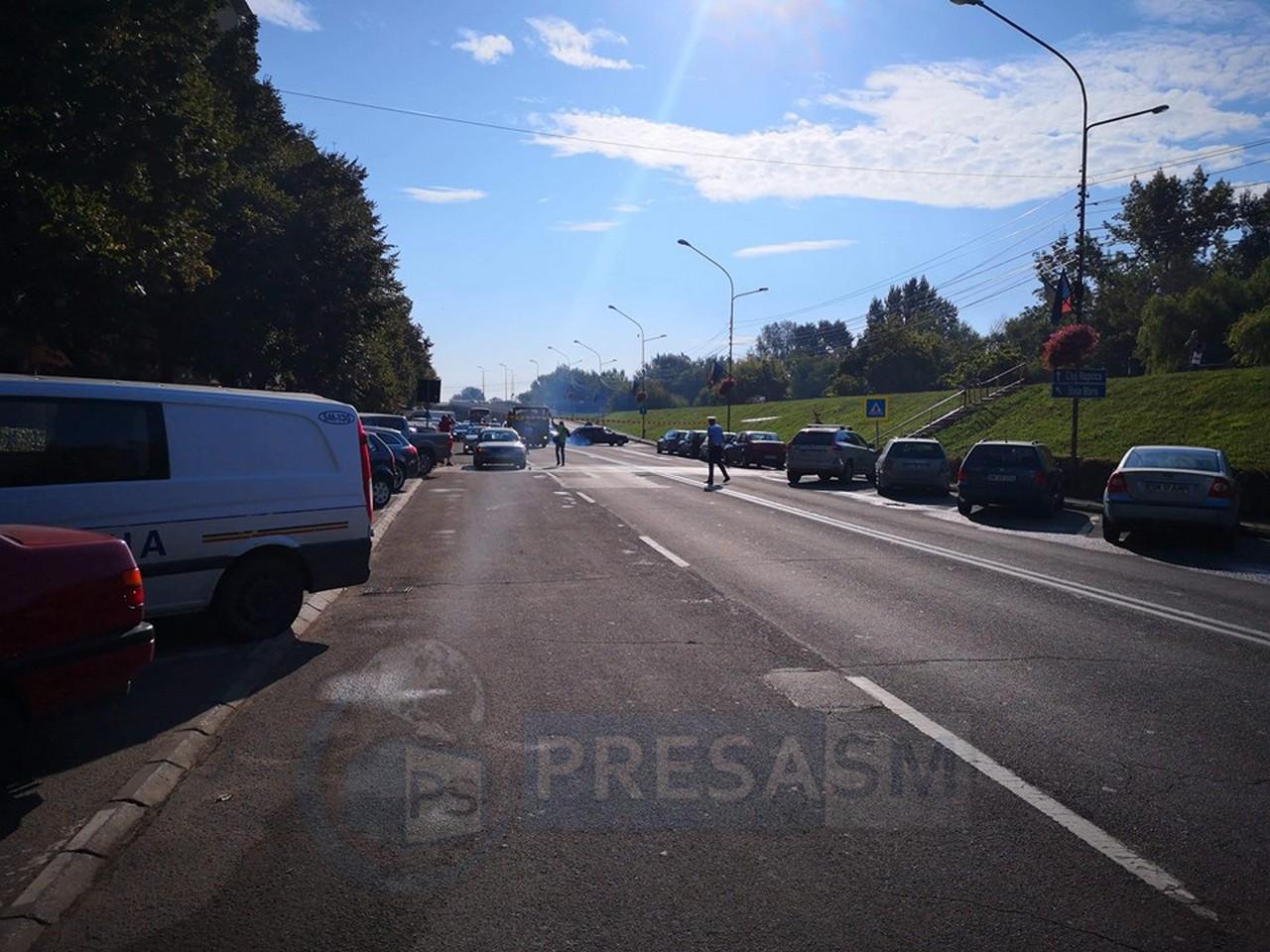 Accident rutier pe bulevardul Transilvania