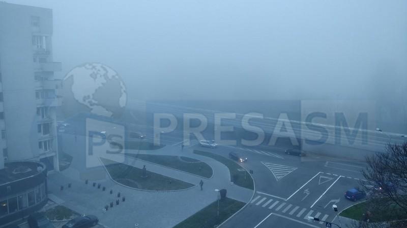 Ceață în municipiul Satu Mare