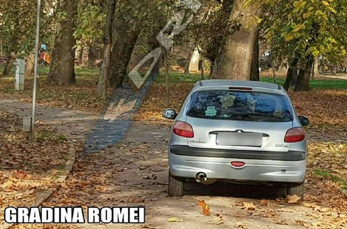 mașina prin Grădina Romei