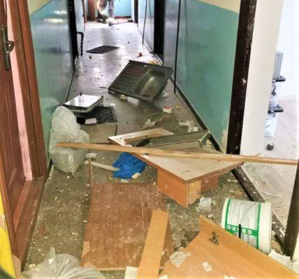 Explozie la un bloc din Satu Mare