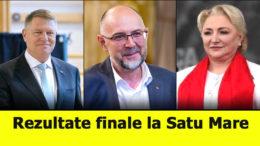 Rezultate finale alegeri prezidențiale 2019 Satu Mare